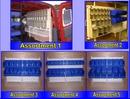 Louvered Van racking Assortment Bins