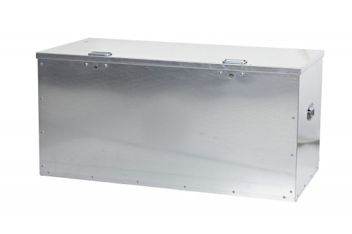 Steel Tool Store Box incl Lock - 1250 x 600 x 600 - Jumbo Twin Lock