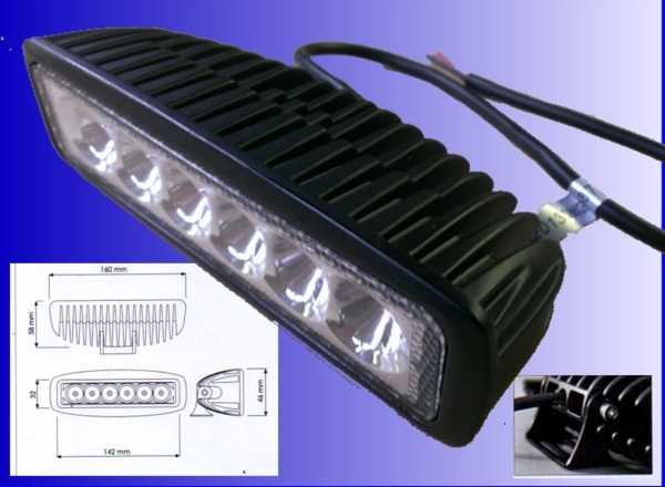 Low profile van work light for Low profile exterior wall lights