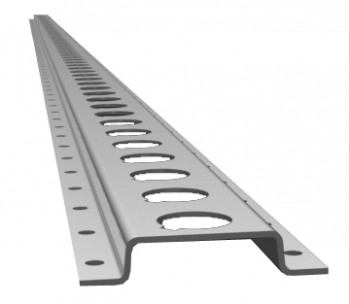 3mtr Tie Down Cargo Rail. Load securing rail for vans