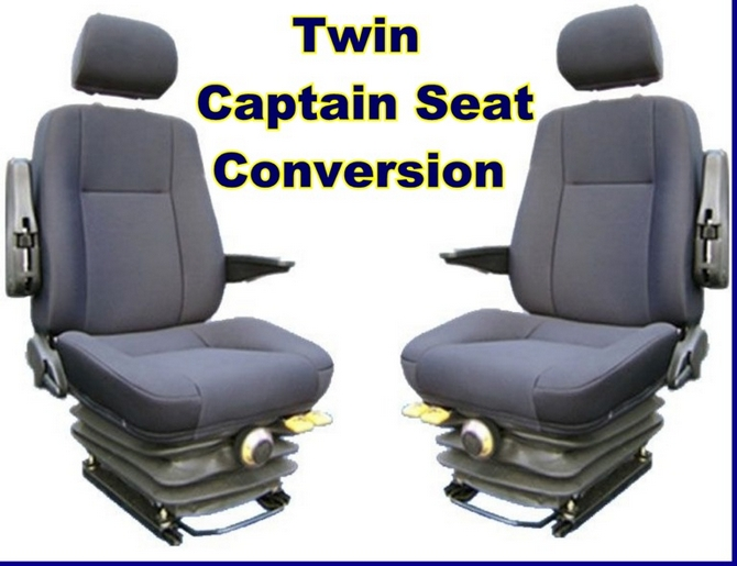 Twin Captain Van Seat Kit c/w Head and Arm Rests for Citroen Relay 06 -  onwards