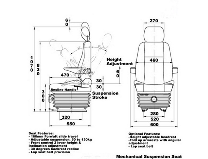 suspension captain van seat