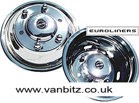 15 Stainless Steel Wheeltrims (Euroliners) - Full Set - (Merc Sprinter)