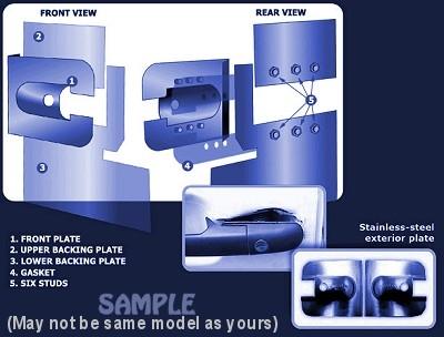 Renault Master Sideload Door Armaplate Lock Protection Kit