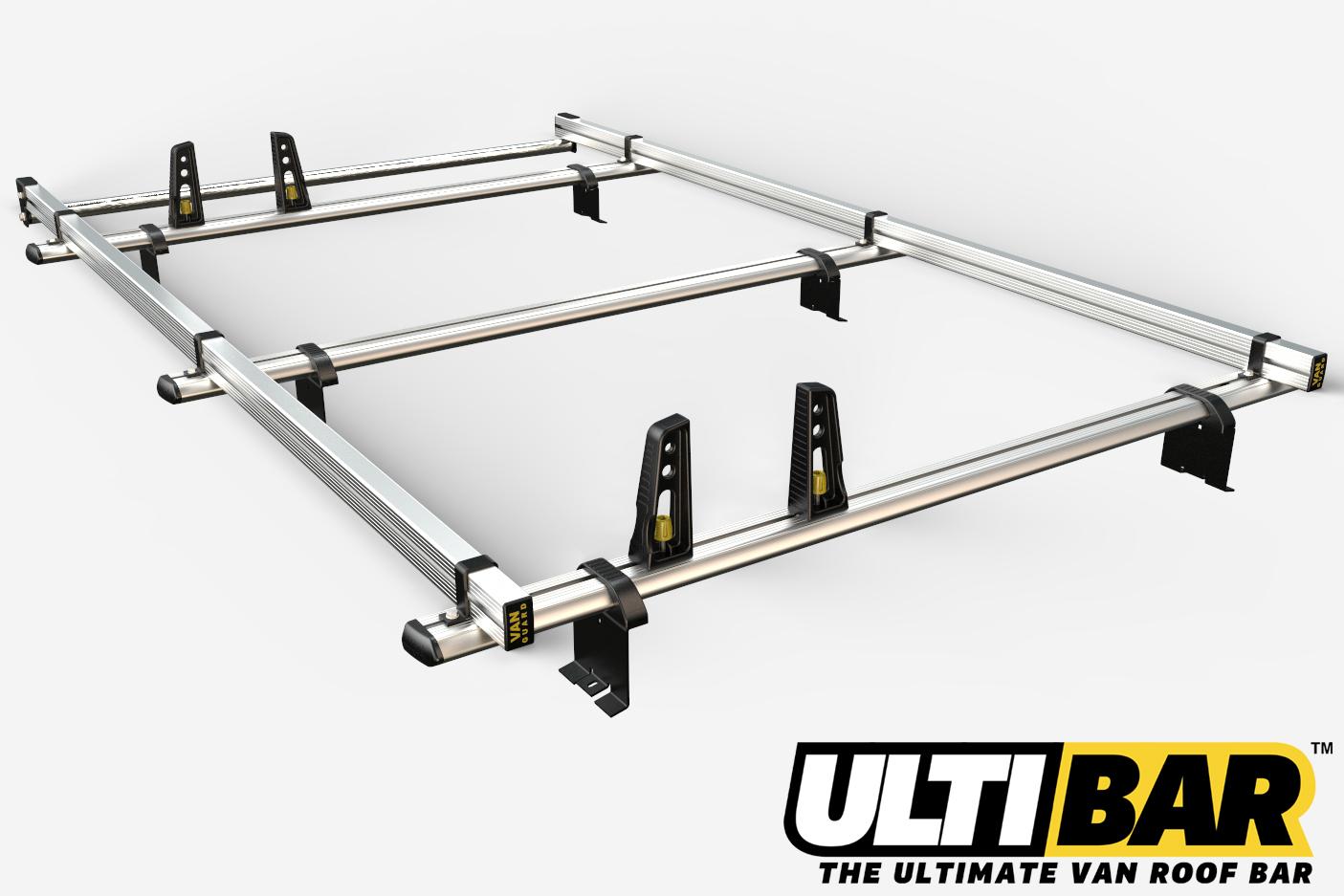 Citroen Dispatch (pre Feb '07) - 3 Bar Heavy Duty Aluminium Roof Rack with Full Roller (8x4 Capacity)
