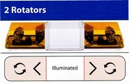 29 Amber Warning Light Bar with Illuminated Centre