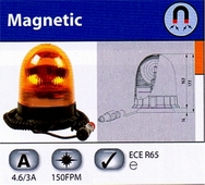 Magnetic Amber Warning Light Beacon