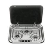 3 BURNER HOB with SILVER GREY COVER