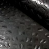 3x2mtr Black Rubber Anti-Slip Chequered Van Floor Covering