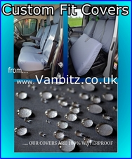 Ford Custom 2013 Double Cab In Van (DCIV) Rear Triple Bench Seat FOCU12RTZZBK Tailored Seat Cover