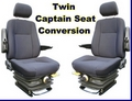 Twin Captain Van Seat Kit c/w Head and Arm Rests for  VW Transporter 2003 onwards