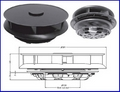 Low Profile Rotating Van Roof Ventilator 2541/610(BLK) 2541/600 (white)