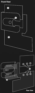 Vaux Movano NSF Passenger Door Armaplate Lock Protection kit