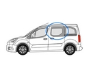 Peugeot Partner 2008 onwards Half Slider N/S Privacy  Front Window Glass
