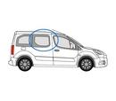 Peugeot Partner 2008 onwards Half Slider O/S Privacy  Front Window Glass