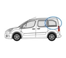 Peugeot Partner 2008 onwards L1 (SWB) -  N/S Privacy  Rear Window Glass
