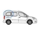 Peugeot Partner 2008 onwards L1 (SWB) -  O/S Privacy  Rear Window Glass