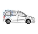 Peugeot Partner 2008 onwards L1 (SWB) -  O/S SLD Privacy  Rear Window Glass