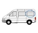 Ford Transit 2000 - 2014  L1 (SWB) N/S SLD Privacy  Rear Window Glass