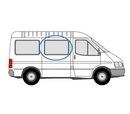 Ford Transit 2000 - 2014 Half Slider L1 (SWB) O/S Privacy  Front Window Glass