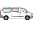 Ford Custom 2013 onwards  L3 (LWB) O/S Privacy  Rear Window Glass