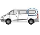 Ford Custom 2013 onwards  L1 (SWB) N/S Privacy  Rear Window Glass