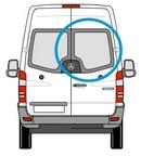 Volkswagen Crafter 2006 onwards  O/S Privacy (All Models)  Back Door(s) Window Glass