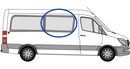Volkswagen Crafter 2006 onwards P2 L3 (LWB) O/S SLD Privacy  Front Window Glass