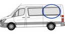 Volkswagen Crafter 2006 onwards P2  L2 (MWB) N/S (NO SLD) Privacy  Rear Window Glass