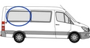 Volkswagen Crafter 2006 onwards P2  L2 (MWB) O/S SLD Privacy  Rear Window Glass