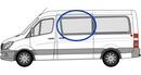 Volkswagen Crafter 2006 onwards  Half Slider N/S Privacy  Front Window Glass