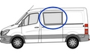 Volkswagen Crafter 2006 onwards L1 (SWB)  N/S Privacy  Front Window Glass