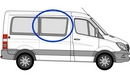 Volkswagen Crafter 2006 onwards L1 (SWB)  O/S Privacy  Front Window Glass