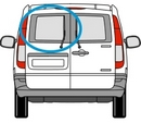 Mercedes Vito 2003 - 2014  N/S Privacy  Back Door(s) Window Glass