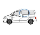 Nissan NV200 2009 onwards  N/S Privacy  Front Window Glass