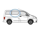 Nissan NV200 2009 onwards  O/S Privacy  Front Window Glass