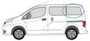 Nissan NV200 2009 onwards  L1 (SWB) N/S Privacy  Rear Window Glass