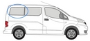 Nissan NV200 2009 onwards  L1 (SWB) O/S Privacy  Rear Window Glass