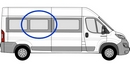 Citroen Relay 2006 onwards (L3&L4) P2 L3 (LWB) /XL3 (LWB)  O/S SLD Privacy  Centre Window Glass