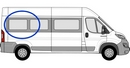Fiat Ducato 2006 onwards (L4) P3 XL3 (LWB)  O/S SLD Privacy  Rear Window Glass