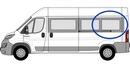 Fiat Ducato 2006 onwards (L4) P3  XL3 (LWB) N/S SLD Privacy  Rear Window Glass