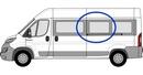 Fiat Ducato 2006 onwards (L3&L4) P2 L3 (LWB) /XL3 (LWB)  N/S SLD Privacy  Centre Window Glass
