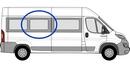 Fiat Ducato 2006 onwards (L3&L4) P2 L3 (LWB) /XL3 (LWB)  O/S SLD Privacy  Centre Window Glass
