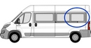 Fiat Ducato 2006 onwards (L3) P3 L3 (LWB)  N/S SLD Privacy  Rear Window Glass