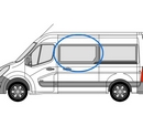 Renault Master 2010 onwards  M/L3 (LWB) N/S SLD Privacy  Front Window Glass