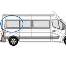 Vauxhall Movano 2010 onwards P3 L3 (LWB)  O/S Privacy  Rear Window Glass