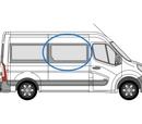 Vauxhall Movano 2010 onwards  M/L3 (LWB) O/S Privacy  Half Slider  Front Window Glass