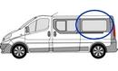 Renault Trafic 2001 - 2014  L3 (LWB) N/S SLD Privacy  Rear Window Glass