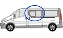 Renault Trafic 2001 - 2014 Half Slider N/S SLD Privacy  Front Window Glass