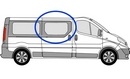 Renault Trafic 2001 - 2014  O/S non-SLD Privacy  Front Window Glass